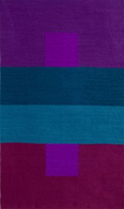 Illusion, hand-dyed wool tapestry, 48 x 28 inches, ©Sherri Coffey
