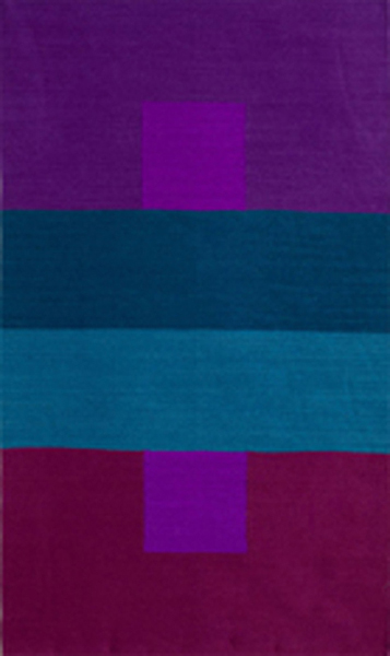 Illusion, hand-dyed wool tapestry, 48 x 28 inches