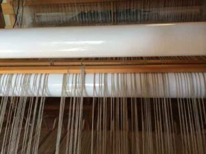 Taken directly facing the loom