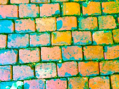 Bricks using vibrance adjustment