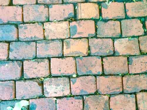 Plain brick path