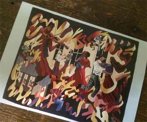 Energetic postcard