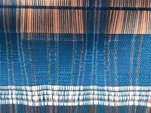 An example of the weaving from the above reed